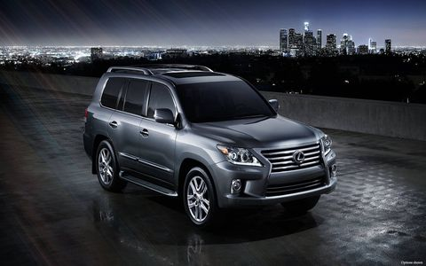 The LX 570 can tow up to 7,000 pounds with a powerful V8, full-time 4WD and advanced chassis control systems.