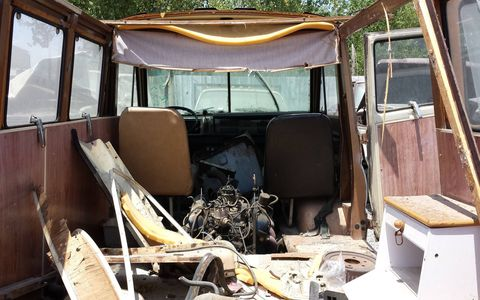 It's hard to imagine this van in nice shape, but at one time it was a family vacation machine.