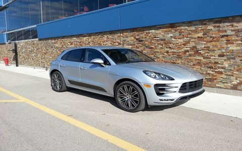 The seven-speed dual-clutch sequential manual in the 2015 Porsche Macan Turbo shifts effortlessly.