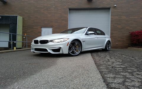 The manual gearbox in the 2015 BMW M3 is a lot of fun despite a light clutch feel.