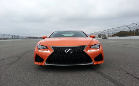 The 2015 Lexus RC F comes in at a base price of $63,325 with our tester topping off at $76,065.