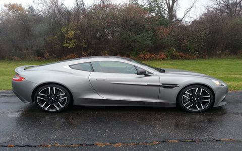The 2015 Aston Martin Vanquish Coupe comes in at a base price of $287,820 with our tester topping off at $306,695.