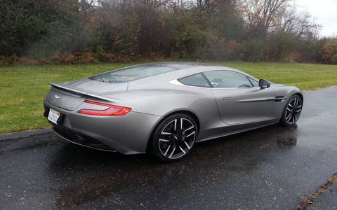 The 2015 Aston Martin Vanquish Coupe is one of the most beautiful cars on the road.