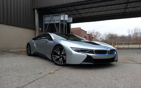 The 2014 BMW i8 features all of the typical electric car driving characteristics.