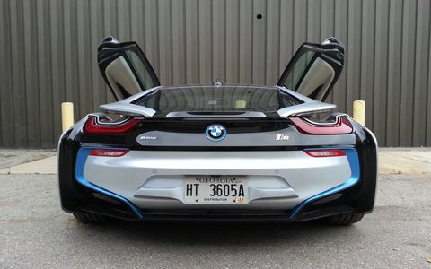 The 2014 BMW i8 features a lot of striking lines from the front to the back.