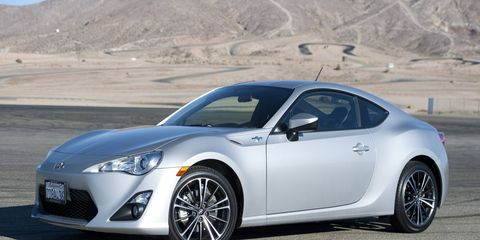 Here is a 2014 Scion FR-S.
