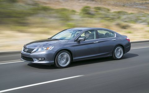 The 2014 Honda Accord Sport Sedan comes in at a base price of $24,505.
