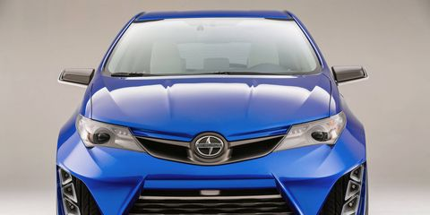 The unnamed Scion sedan may mirror the front fascia design of the new Scion iM hatch, previewed in concept form above.
