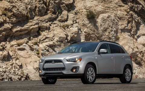 The 2014 Mitsubishi Outlander Sport SE comes in at a base price of $24,820 with our tester reaching $25,820.