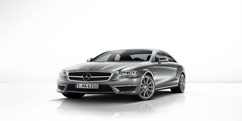 In addition to larger brakes and wider wheels and tires, the CLS63 AMG also sports a unique combination of steel coil springs at the front and airmatic suspension at the rear.