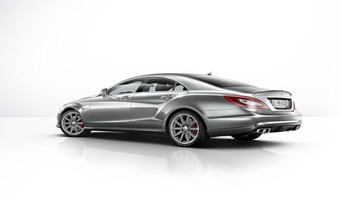 The eye-catching Mercedes-Benz CLS63 AMG S-Model has been fitted with 4MATIC all-wheel drive.