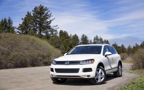 The 2014 Volkswagen Touareg TDI Lux comes in at a base price of $56,460 with our tester topping off at $56,785.