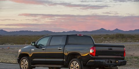 Toyota's pickup truck equipped with Crewmax cabin makes for a huge cabin inside and large dimensions out.