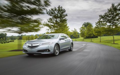 It's the all-new 2015 Acura TLX sedan, coming at you in the most anonymous paint color on the market!