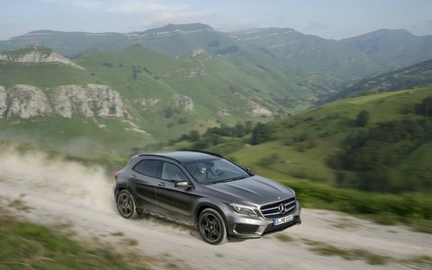 The GLA250 4MATIC sprints from zero to 60 mph in under an estimated 7.1 seconds.