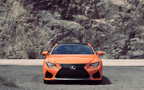 The new 2015 Lexus RC F high-performance coupe
