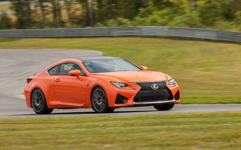 The new 2015 Lexus RC F coupe