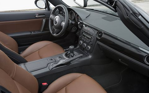 We'd say the current MX-5's interior goes back to basics, but it was never really anything but basic.
