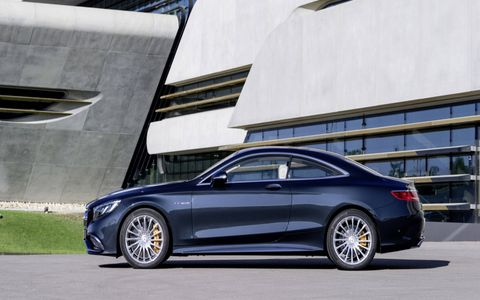 The S-Class Coupe's lack of a B-pillar creates a clean, open greenhouse.
