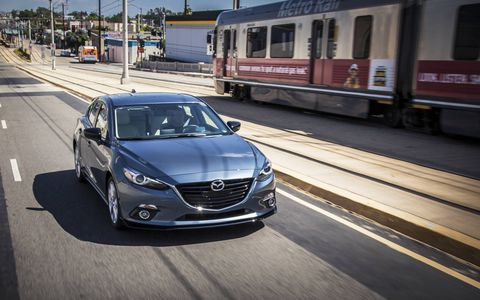 The 2015 Mazda 3 s Grand Touring 5-Door features a super-slick manual gearbox.