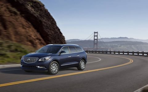 The 2015 Buick Enclave Premium Group is a relaxing people hauler.
