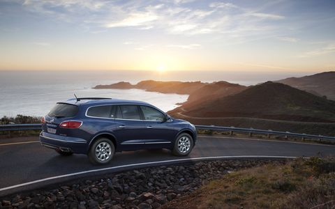 The 2015 Buick Enclave Premium Group comes in at a base price of $49,995 with our tester topping off at $54,185.