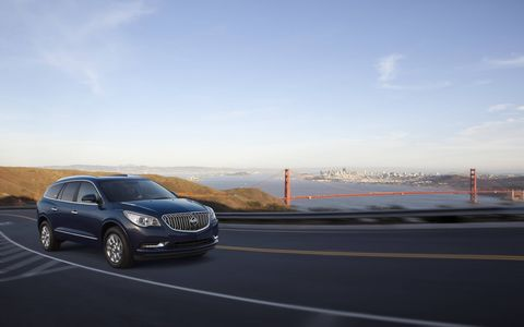 The 2015 Buick Enclave Premium Group is equipped with a 3.6-liter V6.