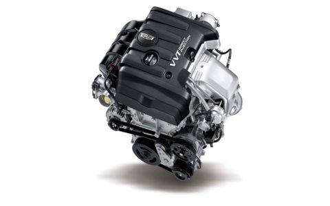 The 2015 Cadillac ATS 2.0T Performance Coupe is equipped with a 2.0-liter turbocharged I4 coupled with a six-speed automatic gearbox.