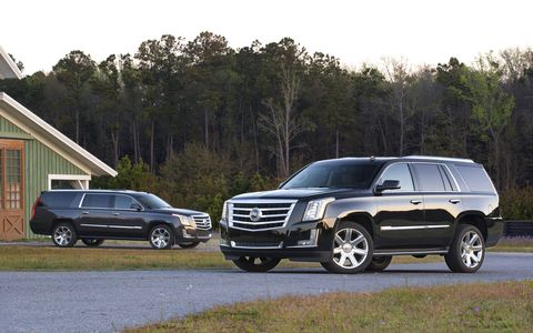 The 2015 Cadillac Escalade ESV Luxury comes in at a base price of $82,290 with our tester topping off at $84,290.
