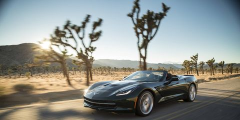 The 2015 Chevrolet Corvette Stingray 2LT Convertible comes in at a base price of $58,995 with our tester topping off at $71,255.