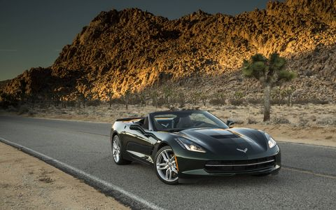 While we wouldn't necessarily opt for the convertible Vette, its sheer openness is still fantastic.