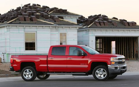 The 2015 Chevrolet Silverado 2500HD LTZ Z71 Crew Cab comes in at a base price of $49,225 with our tester topping off at $61,480.