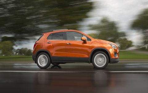 Chevy Trax is powered by a 138-hp 1.4-liter turbo.