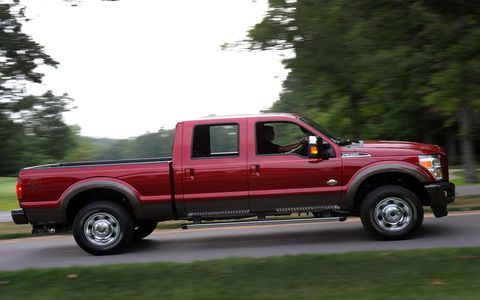 The King Ranch package adds on a lot of little touches to the 2015 Ford F-350 Super Duty King Ranch Crew Cab.