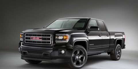 The 2015 Sierra Elevation Edition incorporates a body-colored grille surround, color-keyed door handles, mirror caps, side moldings and front and rear bumpers designed to give Elevation a sporty monochromatic appearance.