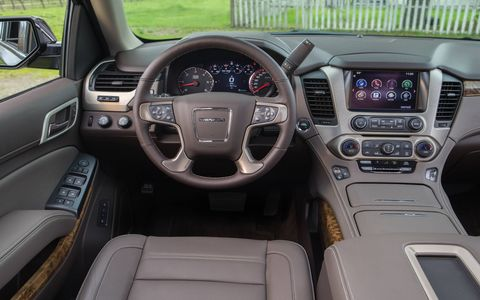 The interior of the 2015 GMC Yukon XL Denali is probably the biggest improvement.