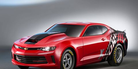 Chevrolet introduced the sixth generation COPO Camaro No. 001 last November at the SEMA Show and includes a personalized look created by NHRA Funny Car driver Courtney Force. It features a Red Hot exterior color with Courtney Force-signature graphics and red-accented grille trim.