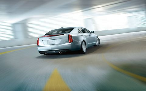 The 3.6L engine is also paired with a six-speed automatic transmission. The 2.0L ATS is shown here.