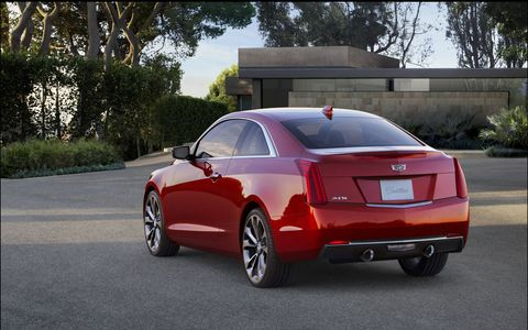 The ATS Coupe 3.6L V6 is rated at 333 horsepower and 285 lb-ft of torque. Shown here is the 2015 model, which is visually identical to the 2016 model.