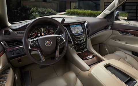 The Escalade features higher levels of luxury, with sophisticated new technology for safety and connectivity.