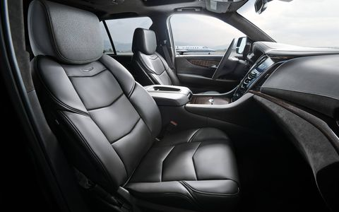 There are two different interior designs available for the Escalade Platinum and Jet Black is shown here.