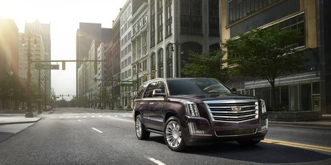 The Escalade Platinum is highlighted by the addition of 4G LTE connectivity, a new 8-speed automatic transmission and a Surround View camera system to help increase visibility.