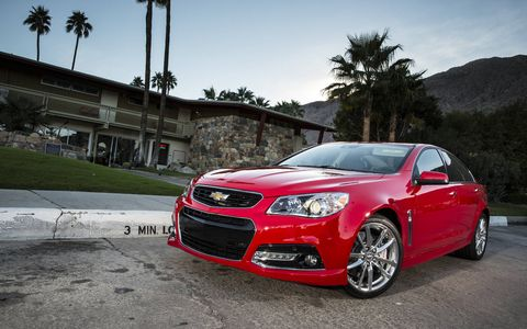 The 2015 Chevrolet SS has the looks to fly under the radar as well stand out.