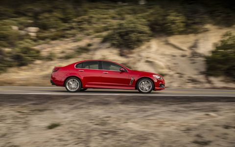 The 2015 Chevrolet SS has a stiff, but still comfortable suspension.