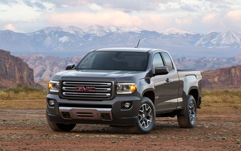 The 2015 GMC Canyon Extended Cab delivers the most horsepower in the segment and allows owners to haul and tow more while using less fuel.