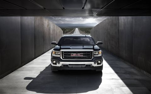 The 2015 GMC Sierra 1500 SLT Crew Cab is enhanced with greater connectivity and an eight-speed automatic transmission.