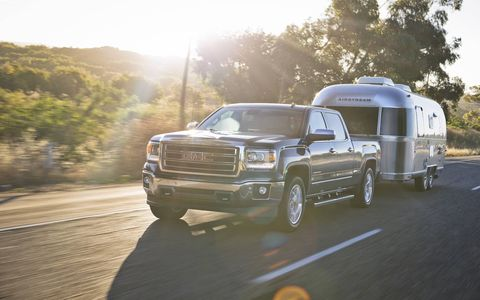 Sierra's new eight-speed automatic helps the pickup retain its 12,000-pound maximum trailering rating.