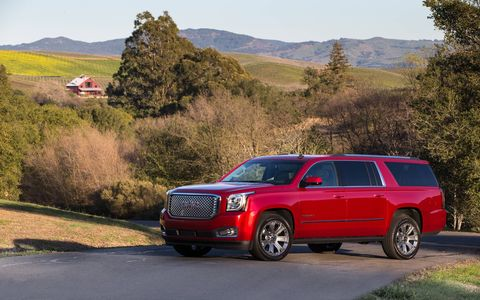 The new, 2015 GMC Yukon models are equipped with new standard and available driver-alert technologies that add layers of crash-avoidance protection, as well as enhanced occupant protection in the event a crash occurs.