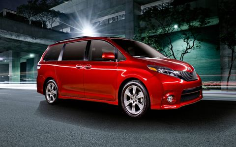 The 2015 Toyota Sienna gets optional LED lighting in the front and rear.
