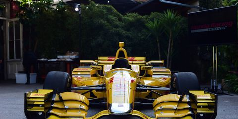 The first 2015 Dallara Honda aero kit was unveiled in Los Angeles on Monday.